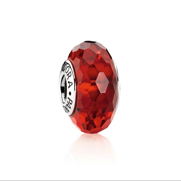 PANDORA Red Murano Glass Charm